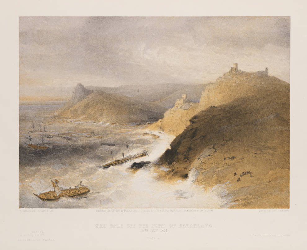 SIMPSON The_Gale_off_the_Port_of_Balaklava_14th_Nov_1854