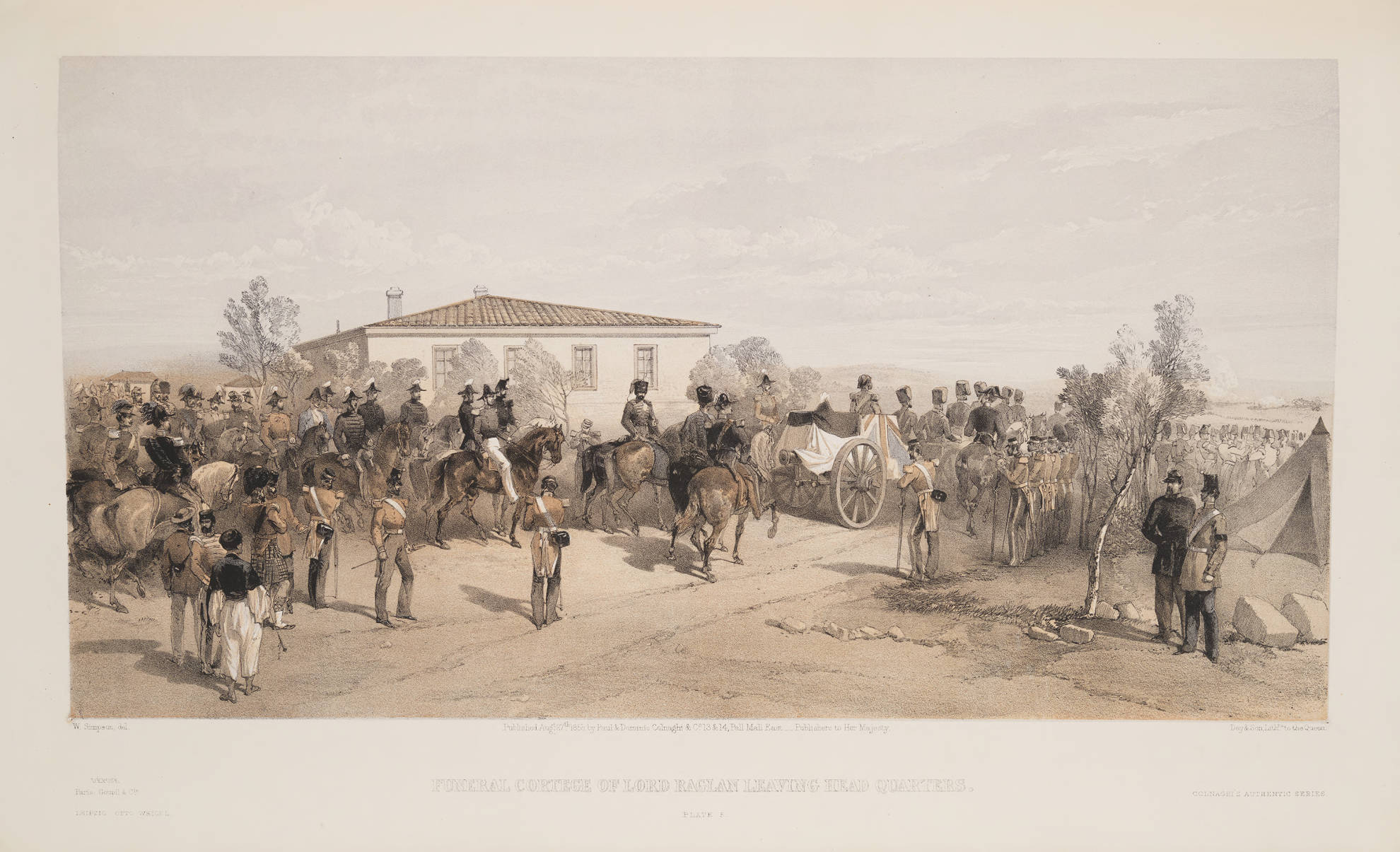 William Simpson: Funeral of Lord Raglan