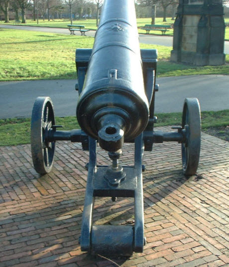 Rear view of cannon