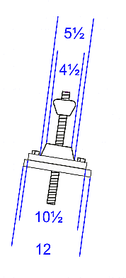 Dimensions of elevator screw.