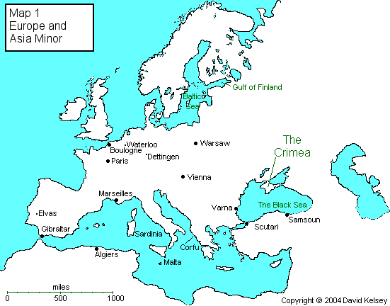 Crimean Texts Map One Europe And Asia Minor