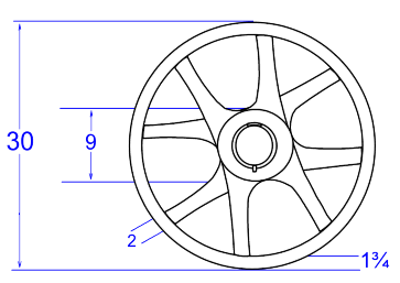 Dimensions of wheels